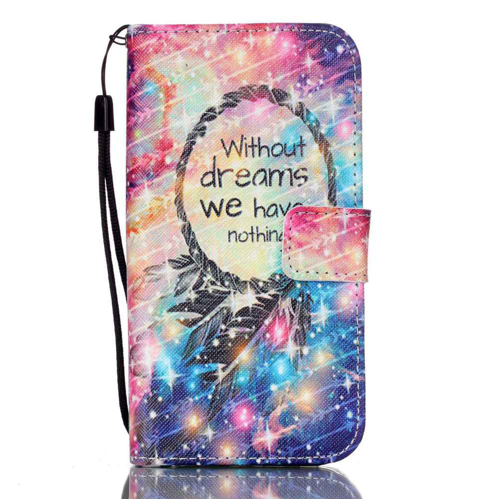 PINK BLUE GRADIENT New Painted PU Phone Case for Samsung Galaxy S7