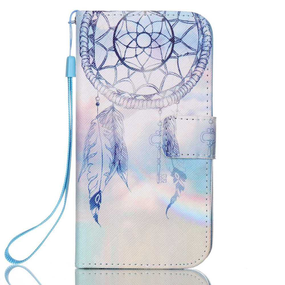 BLUE+GRAY New Painted PU Phone Case for Samsung Galaxy S7