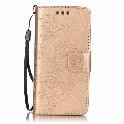 Embossed - Butterfly Flower PU Phone Case for  iPod 5 / 6