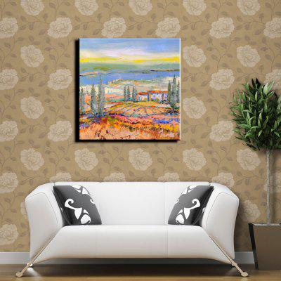 Buy COLORMIX YHHP Hand Painted Impression Scenery Hill Canvas Oil Painting for Home Decoration for $49.60 in GearBest store