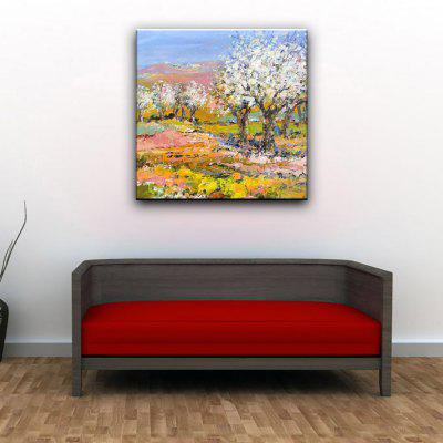 Buy COLORMIX YHHP Hand Painted Impression Scenery Hillside Tree Canvas Oil Painting for Home Decoration for $49.60 in GearBest store