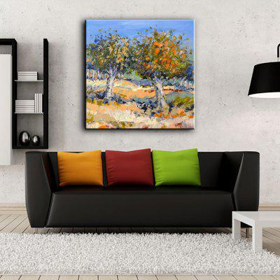 Buy COLORMIX YHHP Hand Painted Impression Scenery Two Trees Canvas Oil Painting for Home Decoration for $49.60 in GearBest store