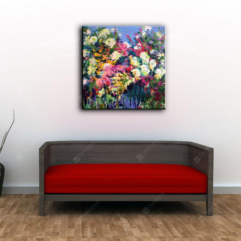 COLORMIX YHHP Hand Painted Impression Flowers Canvas Oil Painting for Home Decoration
