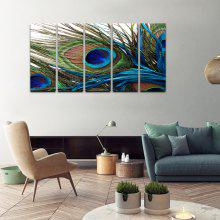 YHHP Canvas Print Peacock Feathers Wall Decor for Home Decoration 5PCS