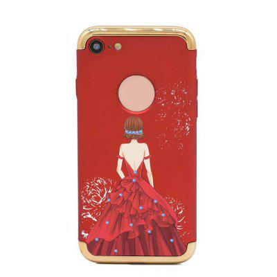Electroplated 3 in 1 Goddess Figure Case for iPhone 7