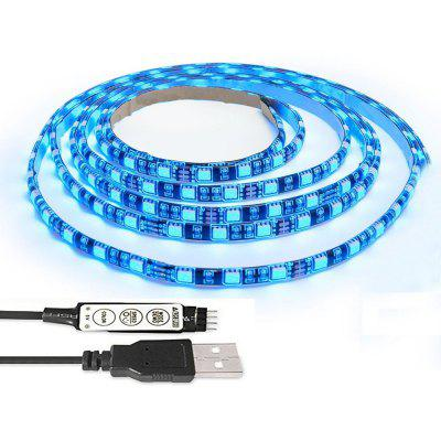 TV BackLight Kit Computer Case 5050 2M RGB USB LED Strip Light with 5v USB Cable And Mini Controller For TV/PC/Laptop Background Lighting