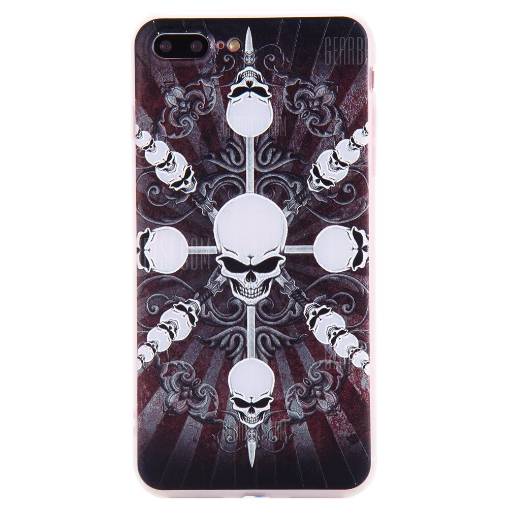 3D Relief Color Printing Soft TPU Bumper Cover Case for iPhone 7 Plus / 8 Plus