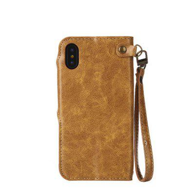 Wkae Rivet Magnetic Flap Wallet Pouch Case Cover for iPhone XiPhone Cases/Covers<br>Wkae Rivet Magnetic Flap Wallet Pouch Case Cover for iPhone X<br><br>Compatible for Apple: iPhone X<br>Features: Cases with Stand, With Credit Card Holder, With Lanyard<br>Material: PU Leather, TPU<br>Package Contents: 1 x Phone Case<br>Package size (L x W x H): 19.00 x 10.00 x 3.00 cm / 7.48 x 3.94 x 1.18 inches<br>Package weight: 0.1600 kg<br>Product weight: 0.1000 kg<br>Style: Pattern, Vintage