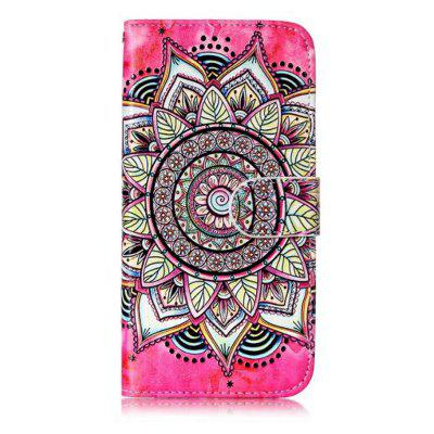 Wkae Glossy Embossed Leather Case Cover for Samsung Galaxy J3 2017