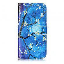 Wkae Glossy Embossed Leather Case Cover for Samsung Galaxy J310