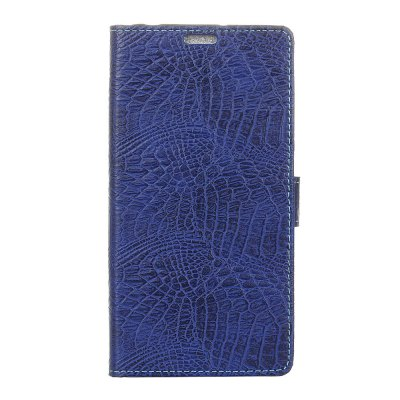 Buy KaZiNe Crocodile Texture Wallet Stand Leather Cover For SONY XA1 BLUE for $3.91 in GearBest store