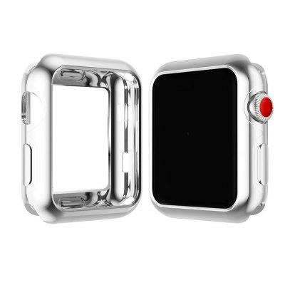 JENYOJIA Plated Soft Slim TPU Protective Flexible Anti-Scratch Bumper Cover for Apple Watch Nike Series 3 / 2 / 1 38mm