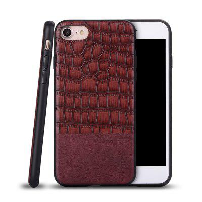 Ultra Thin Slim Soft TPU Silicon Cover A prova de choque e skidproof Case Crocodile Striae para IPhone 7/8