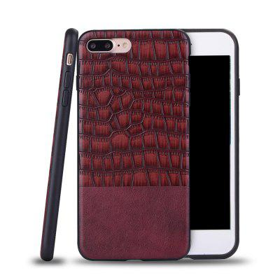 Ultra Thin Slim Soft TPU Silicon Cover A prova de choque e skidproof Case Crocodile Striae para IPhone 7 Plus / 8 Plus