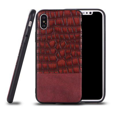 Ultra Thin Slim Soft TPU Silicon Cover A prova de choque e skidproof Case Crocodile Striae para IPhone X