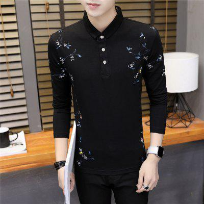 Mens Fashion Print Slim Long Sleeve Polo ShirtMens T-shirts<br>Mens Fashion Print Slim Long Sleeve Polo Shirt<br><br>Collar: Polo Collar<br>Color Style: Contrast Color<br>Fabric Type: Broadcloth<br>Material: Cotton<br>Package Contents: 1 x T-Shirt<br>Pattern Type: Print<br>Sleeve Length: Full<br>Style: Casual<br>Type: Regular<br>Weight: 0.2200kg