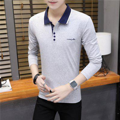 Mens Fashion Embroidery Slim Long Sleeve Polo ShirtMens T-shirts<br>Mens Fashion Embroidery Slim Long Sleeve Polo Shirt<br><br>Collar: Polo Collar<br>Color Style: Contrast Color<br>Fabric Type: Broadcloth<br>Material: Cotton<br>Package Contents: 1 x T-Shirt<br>Pattern Type: Letter<br>Sleeve Length: Full<br>Style: Casual<br>Type: Regular<br>Weight: 0.2100kg
