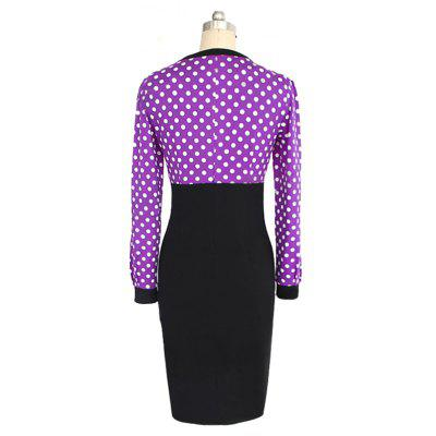 Women V-Neck Retro Point Stitching DressWomens Dresses<br>Women V-Neck Retro Point Stitching Dress<br><br>Dresses Length: Knee-Length<br>Elasticity: Micro-elastic<br>Fabric Type: Broadcloth<br>Material: Cotton Blend<br>Neckline: V-Neck<br>Package Contents: 1xDress<br>Pattern Type: Solid<br>Season: Fall<br>Silhouette: Straight<br>Sleeve Length: Long Sleeves<br>Style: Fashion<br>Weight: 0.2200kg<br>With Belt: No