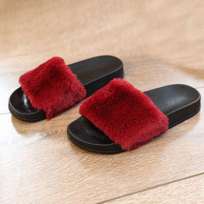 Autumn and Winter New Thick Plush SlippersSlippers &amp; Flip-Flops<br>Autumn and Winter New Thick Plush Slippers<br><br>Available Size: 36,37,38,39,40,<br>Gender: For Women<br>Heel Type: Others<br>Package Contents: 1 x Shoes?pair?<br>Pattern Type: Solid<br>Season: Spring/Fall, Winter<br>Slipper Type: Indoor<br>Style: Fashion<br>Upper Material: PU<br>Weight: 1.1200kg