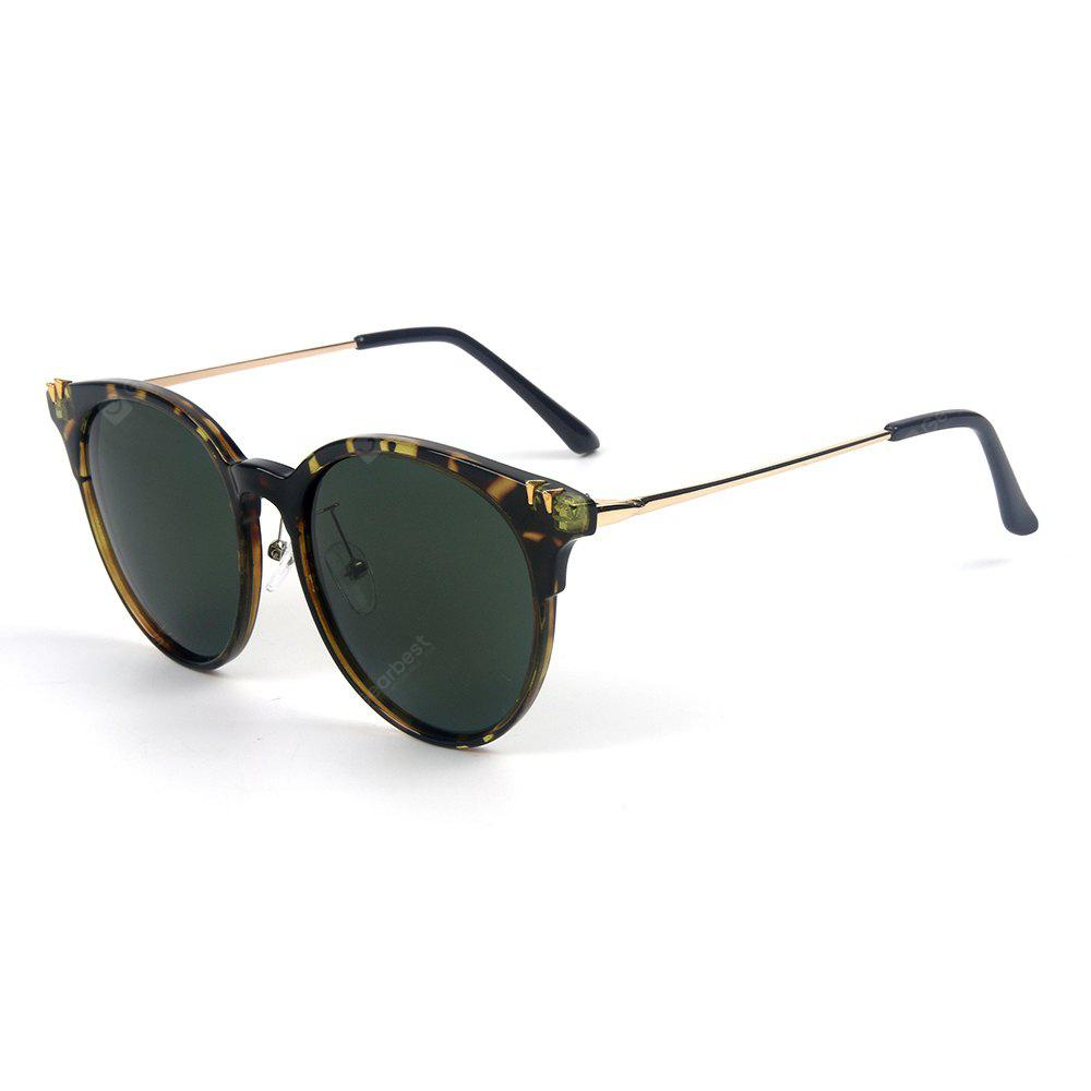 BLACKISH GREEN TOMYE 55906 New Fashion Colorful Cat Polarized Sunglasses