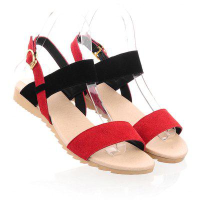 Flat Heeled Sandals for Summer StudentsWomens Sandals<br>Flat Heeled Sandals for Summer Students<br><br>Available Size: Standard Code for Leather Shoes<br>Closure Type: Buckle Strap<br>Gender: For Women<br>Heel Height: 2<br>Heel Height Range: Flat(0-0.5)<br>Heel Type: Flat Heel<br>Occasion: Casual<br>Outsole Material: TPR<br>Package Content: 1 x Shoes?pair?<br>Pattern Type: Solid<br>Sandals Style: Gladiator<br>Style: Fashion<br>Upper Material: Flock<br>Weight: 0.9072kg