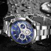 Cadisen C9053 Fashion Men Steel Band Multifunction Quartz Movement Watch - BLUE