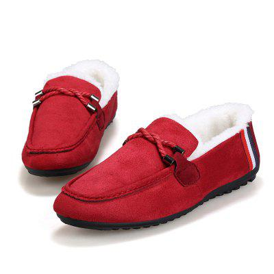 Winter Men Casual Warm LoafersFlats &amp; Loafers<br>Winter Men Casual Warm Loafers<br><br>Available Size: 39 40 41 42 43 44<br>Closure Type: Slip-On<br>Embellishment: None<br>Gender: For Men<br>Insole Material: Rubber<br>Lining Material: Plush<br>Occasion: Casual<br>Outsole Material: Rubber<br>Package Contents: 1?Shoes(pair)<br>Pattern Type: Others<br>Season: Winter<br>Shoe Width: Medium(B/M)<br>Toe Shape: Round Toe<br>Toe Style: Closed Toe<br>Upper Material: PU<br>Weight: 1.0200kg