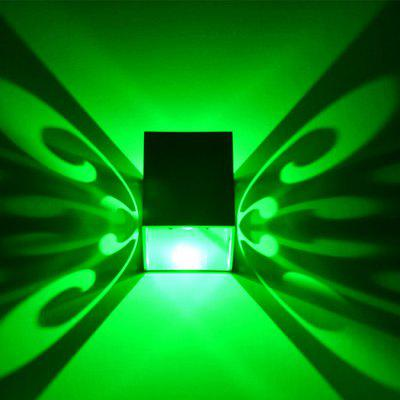 Buy GREEN LED Decoration Bulb Setting Wall Lamp Corridor Light for $10.29 in GearBest store