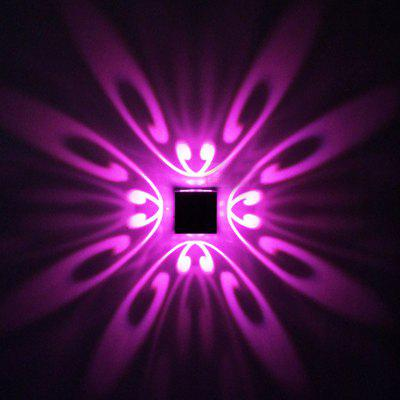 Buy PURPLE LED Butterfly Background Wall Lamp for Corridor KTV Bar Decoration for $14.23 in GearBest store