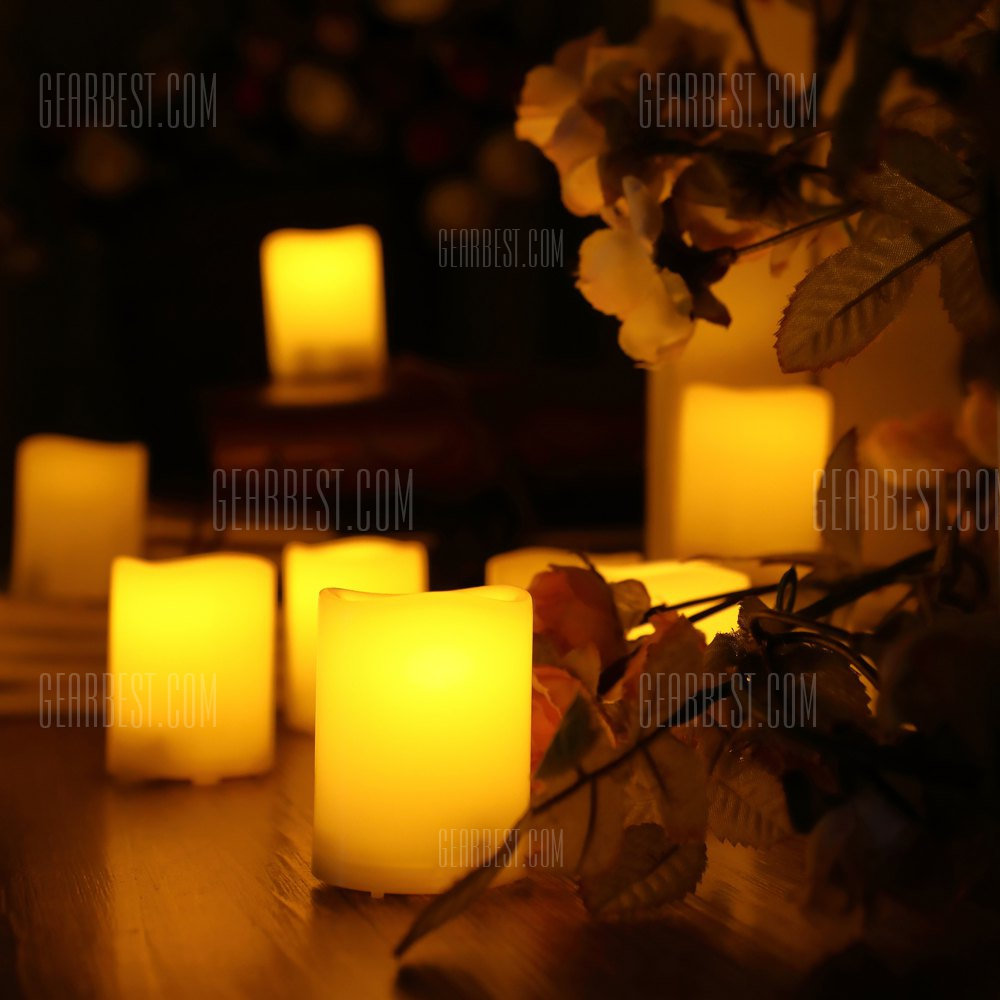 6 PCS Realistic Flickering Flameless Candle - IVORY