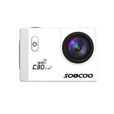 SOOCOO Marque C30R Caméra d'Action HD 4K WiFi NTK96660 Étanche 30 M Gyroscope Réglable Affichage Angles 70-170