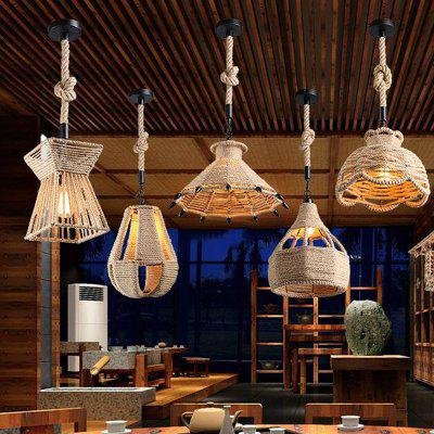 E27 / E26 Base Nordic Hemp Rope Pendant Light Retro Vintage Lamp FixturesPendant Light<br>E27 / E26 Base Nordic Hemp Rope Pendant Light Retro Vintage Lamp Fixtures<br><br>Battery Included: No<br>Bulb Base: E26,E27<br>Bulb Included: No<br>Chain / Cord Adjustable or Not: Chain / Cord Adjustable<br>Chain / Cord Length ( CM ): 100<br>Dimmable: No<br>Features: Designers<br>Fixture Height ( CM ): 28<br>Fixture Length ( CM ): 40<br>Fixture Width ( CM ): 40<br>Package Contents: 1 x Pendant Light, 1 x Assembly Parts<br>Package size (L x W x H): 41.00 x 41.00 x 30.00 cm / 16.14 x 16.14 x 11.81 inches<br>Package weight: 2.3000 kg<br>Product size (L x W x H): 40.00 x 40.00 x 28.00 cm / 15.75 x 15.75 x 11.02 inches<br>Product weight: 1.8000 kg<br>Remote Control Supported: No<br>Shade Material: Metal<br>Style: Country, Modern/Contemporary, Vintage antique, Artistic Style<br>Suggested Room Size: 10 - 15?<br>Suggested Space Fit: Bedroom,Cafes,Dining Room,Indoors,Kitchen,Living Room,Study Room<br>Type: Pendant Light<br>Wattage (W): 60W