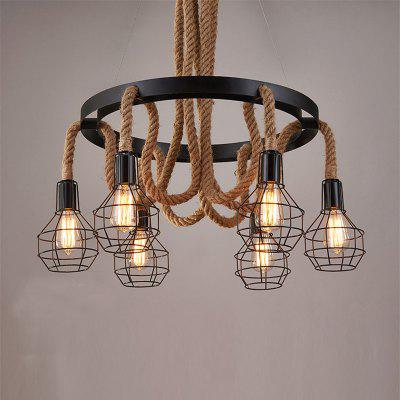 E27 / E26 Base Nordic Hemp Rope Ficelle Retro Vintage Luminaires Suspendus MS - 32