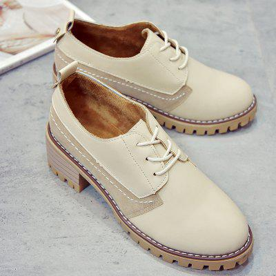 All-match Small Leather Shoes with Thick British StyleWomens Casual Shoes<br>All-match Small Leather Shoes with Thick British Style<br><br>Available Size: 35,36,37,38,39,40<br>Closure Type: Lace-Up<br>Embellishment: None<br>Gender: For Women<br>Outsole Material: Rubber<br>Package Contents: 1 x Shoes?Pair?<br>Pattern Type: Patchwork<br>Season: Summer, Spring/Fall<br>Toe Shape: Round Toe<br>Toe Style: Closed Toe<br>Upper Material: PU<br>Weight: 0.8960kg