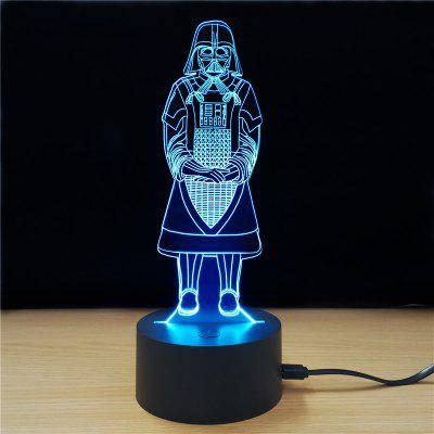 M.Sparkling TD239 Creative Star Wars 3D lâmpada LED
