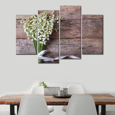 Buy COLORMIX Beautiful Flower Canvas Wall Art Unframed Printed Print 4PCS for $14.30 in GearBest store