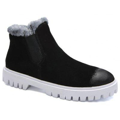 Warm Men Ankle Boots Classic Outdoor Winter Shoes Male Low Heels British Hiking