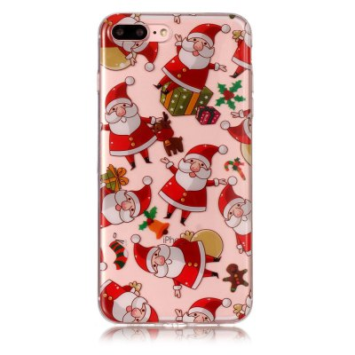 christmas series pattern soft tpu case for iphone 7 plus 8 plus