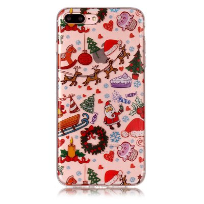 christmas pattern soft tpu clear case for iphone 7 plus 8 plus