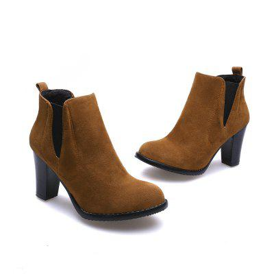 High Heels Sexy Professional Short Boots SQM#717-1Womens Boots<br>High Heels Sexy Professional Short Boots SQM#717-1<br><br>Boot Height: Ankle<br>Boot Tube Circumference: 26<br>Boot Tube Height: 8.5<br>Boot Type: Fashion Boots<br>Closure Type: Elastic band<br>Gender: For Women<br>Heel Height: 8<br>Heel Height Range: High(3-3.99)<br>Heel Type: Chunky Heel<br>Insole Material: PU<br>Lining Material: Cotton Fabric<br>Outsole Material: Rubber<br>Package Contents: 1xShoes(pair)<br>Pattern Type: Solid<br>Season: Winter, Spring/Fall<br>Shoe Width: Medium(B/M)<br>Toe Shape: Round Toe<br>Upper Material: Microfiber<br>Weight: 0.8500kg