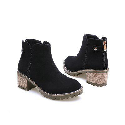 Europe and The United States Casual Rivet Round Head Grinding Coarse Heel Short BootsWomens Boots<br>Europe and The United States Casual Rivet Round Head Grinding Coarse Heel Short Boots<br><br>Boot Height: Ankle<br>Boot Tube Circumference: 24<br>Boot Tube Height: 10<br>Boot Type: Fashion Boots<br>Closure Type: Zip<br>Embellishment: Button<br>Gender: For Women<br>Heel Height: 6<br>Heel Height Range: Med(1.75-2.75)<br>Heel Type: Chunky Heel<br>Insole Material: PU<br>Lining Material: Cotton Fabric<br>Outsole Material: Rubber<br>Package Contents: 1x Shoes(Pair)<br>Pattern Type: Solid<br>Season: Spring/Fall, Winter<br>Shoe Width: Medium(B/M)<br>Toe Shape: Round Toe<br>Upper Material: Microfiber<br>Weight: 0.8500kg