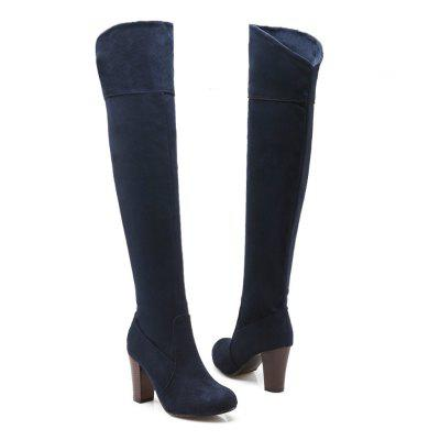 High Elastic Knee High Stovepipe Winter BootsWomens Boots<br>High Elastic Knee High Stovepipe Winter Boots<br><br>Boot Height: Over-the-Knee<br>Boot Tube Circumference: 37<br>Boot Tube Height: 55<br>Boot Type: Fashion Boots<br>Closure Type: Zip<br>Gender: For Women<br>Heel Height: 8<br>Heel Height Range: High(3-3.99)<br>Heel Type: Chunky Heel<br>Insole Material: PU<br>Lining Material: Cotton Fabric<br>Outsole Material: Rubber<br>Package Contents: 1x Shoes?pair?<br>Pattern Type: Solid<br>Season: Spring/Fall, Winter<br>Shoe Width: Medium(B/M)<br>Toe Shape: Round Toe<br>Upper Material: Microfiber<br>Weight: 0.9200kg