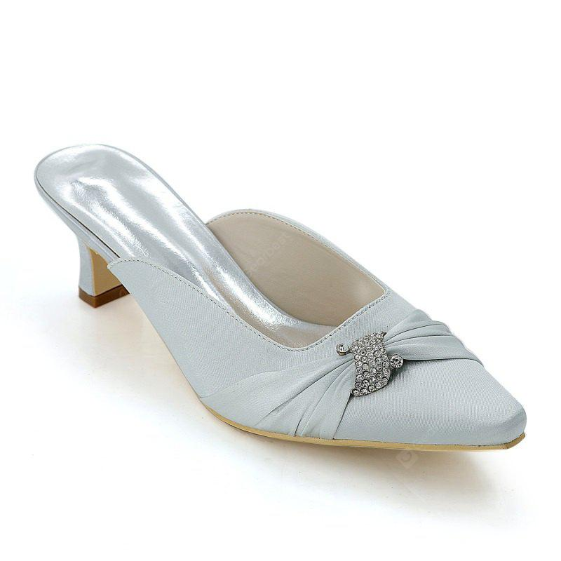 Buy Women's Shoes High Heels Square Wedding 36 SILVER