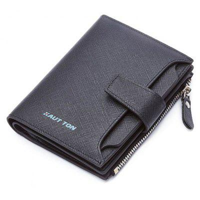 HAUT TON Genuine Leather Bifold Trifold Wallets for Men Removable Flipout Card Holder
