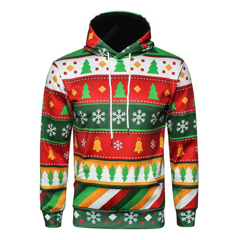 Original Color Christmas Tree Hooded Loose Hoodie