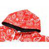 Christmas Alphabet Print Pullover Hoodie - RED