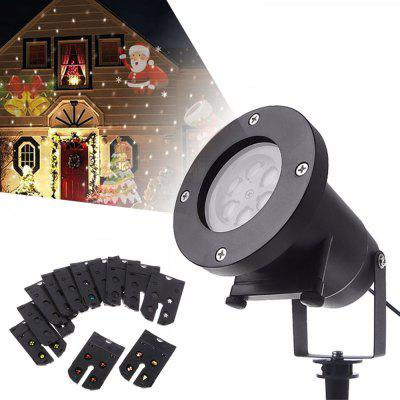 YouOKLight 4W 12 Types Multi-color Christmas Laser Snowflake LED Projector 100 - 240V 1PC