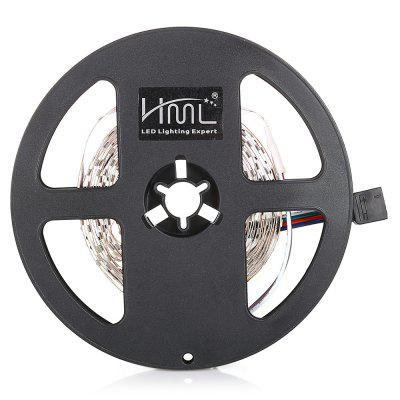HML LED Strip Light 5M 24W RGB SMD2835 300 LEDsLED Strips<br>HML LED Strip Light 5M 24W RGB SMD2835 300 LEDs<br><br>Beam Angle: 180<br>Bulb Included: Yes<br>Certifications: CE,FCC,RoHs<br>Color Temperature or Wavelength: 460nm; 530nm; 635nm<br>Features: with Remote Control, Festival Lighting, Cuttable, Color-changing, Linkable, Self-Adhesive<br>LED Quantity: 300<br>Length ( m ): 5<br>Light color: RGB<br>Light Source: 2835 SMD,LED<br>Light Source Color: RGB<br>Package Content: 1 x Strip Light, 1 x Remote Control, 1 x Adapter, 1 x RGB Control Box, 1 x English User Manual<br>Package size (L x W x H): 15.00 x 15.00 x 3.00 cm / 5.91 x 5.91 x 1.18 inches<br>Package weight: 0.1900 kg<br>Plug Type: US plug<br>Power Supply: 100-240V<br>Product weight: 0.1860 kg<br>Type: RGB Strip Lights, Flexible LED Light Strips, LED Strip Light<br>Voltage: 100 - 240V<br>Wattage (W): 24