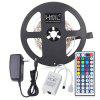 HML LED Strip Lights 5M 24W RGB SMD2835 300 LEDs with IR 44 Keys Remote Control and US DC Adapter - RGB