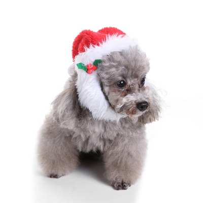 Comfort  Christmas Hat Dog Cat Costume
